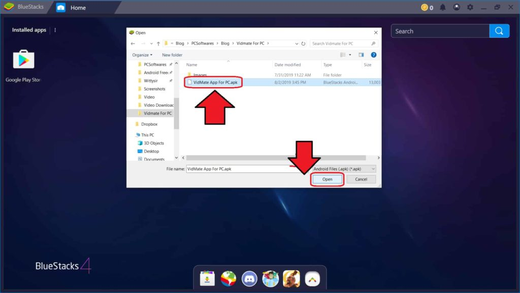 How to Install Vidmate app on PC